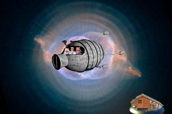 theez ar the voyadjes of the starship swine trek