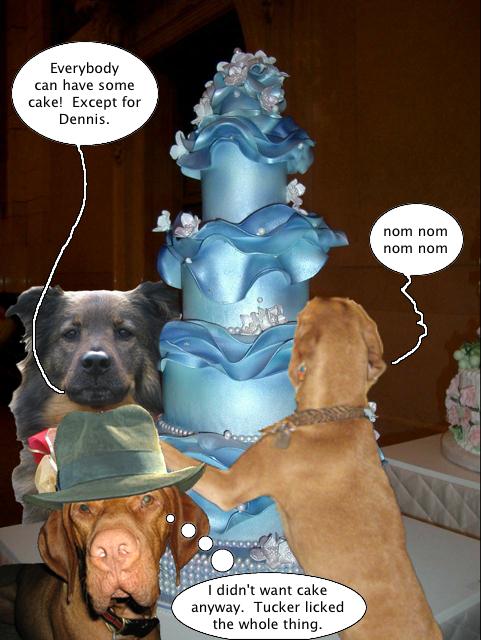 fat people eating cake. dresses fat guy eating cake.